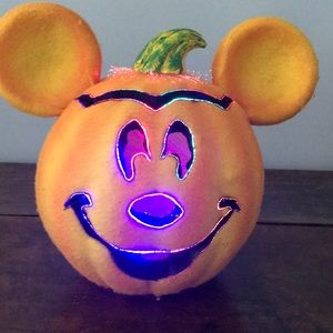 Disney Holiday Fiberoptic Mickey Mouse Halloween Pumpkin Poshmark